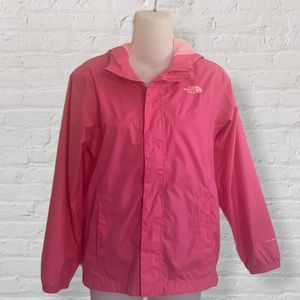 Pink The North Face Hyvent Hooded Rain Jacket